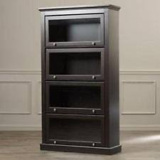 Bookcase Cabinet With Doors Glass Door Bookcase Ebay