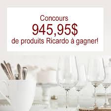ricardo cuisine concours concours gâtez vous avec les produits ricardo