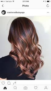 rose gold lowlights on dark hair see the latest hairstyles on our tumblr it s awsome repins