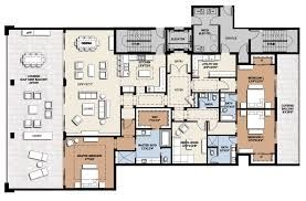 Floor Plans For Apartments 3 Bedroom by Floor Plan Residence B Infinity Longboat Key Condos For Sale