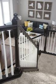 Restaining Banister Chic On A Shoestring Decorating How To Stain Stair Railings And