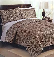 queen full comforter set zebra animal print in beige cream 3 pc