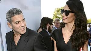 is amal clooney hair one length george clooney and wife amal expecting twins in march report