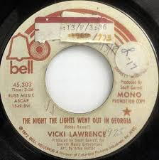 The Nights The Lights Went Out In Georgia Vicki Lawrence The Night The Lights Went Out In Georgia Vinyl