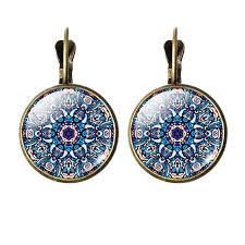 buy earrings online aliexpress buy fashion women jewelry mandala earrings om