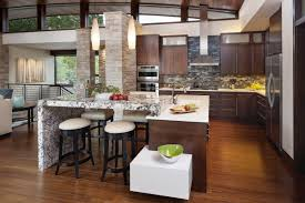 kitchen beautiful open kitchen design with dark brown shaker