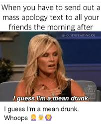 Mass Text Meme - when you have to send out a mass apology text to all your friends