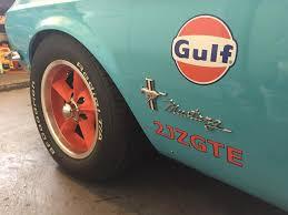 gulf racing mustang the gulfstang video u2013 engine swap depot