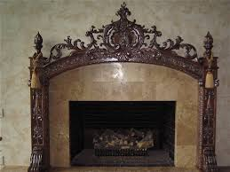 hand crafted custom carved fireplace mantel by carving dreams in