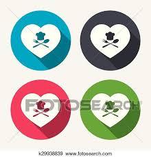 symbole cuisine clipart chapeau chef signe icon amour cuisine symbole