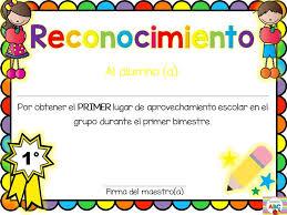 imagenes de reconocimientos escolares mundo abc reconocimientos para primer bimestre si facebook