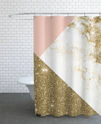 Pink And Gold Curtains Pink And Gold Marble Collage As Shower Curtain By Cafelab Juniqe Uk