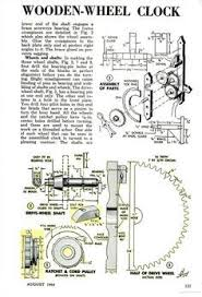 free wooden gear clock plans download woodworking projects