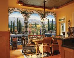 Kitchen Wall Mural Ideas Tuscan Decorating Tuscan Decorating U2013 Tuscan Art Wall Home Decor