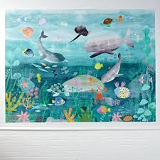 kids wall decals and stickers the land of nod under the sea mural decal