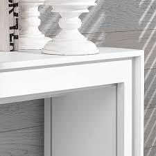 Schreibtisch Modern Ausziehbarer Schreibtisch Piezara In Weiß Modern Wohnen De
