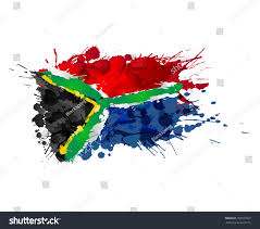 The New South African Flag South African Flag Made Colorful Splashes Stock Vector 182597822