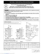 how to install a wall oven in a base cabinet frigidaire fgb24l2as 24 inch single gas wall oven manuals