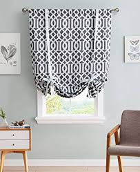 Balloon Curtains For Kitchen by Amazon Com Hlc Me Trellis Print Thermal Room Darkening Blackout