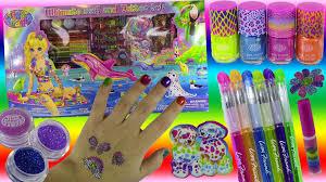 lisa frank ultimate nail u0026 tattoo set 8 nail polishes tattoo pens