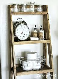 Bathroom Ladder Shelves Ladder Shelf For Bathroom Bathroom Leaning Ladder Storage Narrow