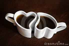 heart shaped mugs two heart shaped cups of coffee s day