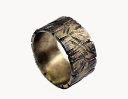 Non Traditional Wedding Rings by Custom Distressed Silver Ring Unisex Non Traditional Silver