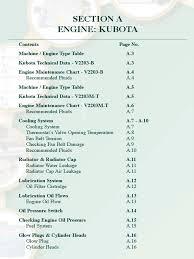 service service manual code 950 994 653 1 kubota v2203