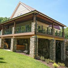 craftman style outdoor craftsman style railings enhance classic architecture