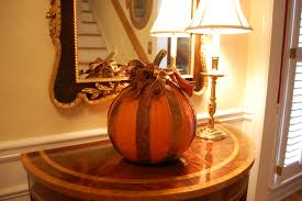 decoupage a pumpkin with ribbon for