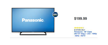 best deals on tvs black friday 50 inch panasonic tc 50a400u led tv is best buy black friday 2014