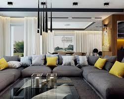 salon avec canapé gris deco avec canape gris