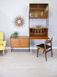 bureau stylé mid century retro avalon room divider desk unit shelving bureau