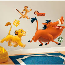 best collections of lion king wall decals all can download all home the lion king simba timon pumbaa giant stickers