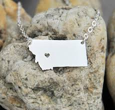 customized necklace montana map state heart necklace customized necklace marycrafts