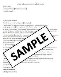 collection of solutions sample termination letter for employee on