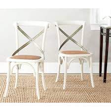 X Back Bistro Chair Safavieh Eleanor Weathered Oak X Back Side Chair Set Of 2