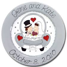 wedding plate personalized anniversary wedding plates miss arty