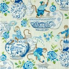 Waverly Home Decor Fabric Monkey Fun Home Decor Fabric In Blue By Waverly Fabric Traders