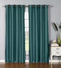 amazon com window elements jane faux silk 76 x 84 in grommet