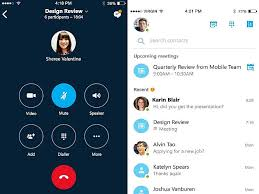 skype android app skype for business launched for ios android app due later this