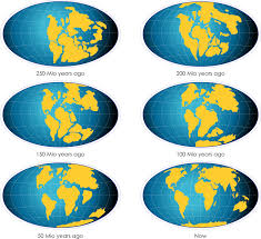 Interactive World Map Continental Drift Geographical Teaching Resource