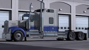 2017 kenworth w900 kenworth w900 blue u0026 gray skin mod ats ats mod american truck