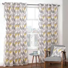 Yellow And Grey Window Curtains Grey And Yellow Window Curtains Teawing Co