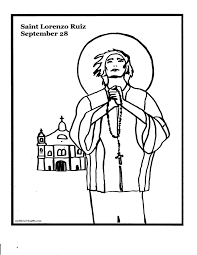 st lorenzo ruiz coloring page and these thy gifts