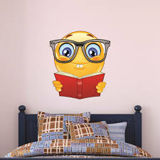 custom name wall decals and personalized graphics bookworm emoji picture of bookworm emoji