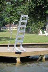 side mount pontoon boat ladder boat accessories pinterest