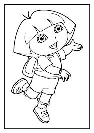 dora coloring free printable orango coloring pages
