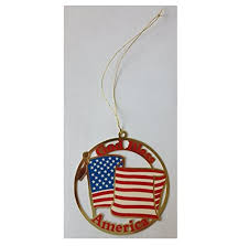 Christian Christmas Window Decorations by God Bless America Usa Us United States Flag Christmas Ornament
