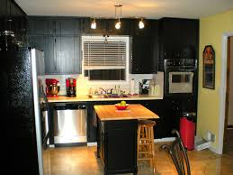 Kitchen Colors With Black Cabinets Kitchen Small Wooden Kitchen With Black Appliances Modern